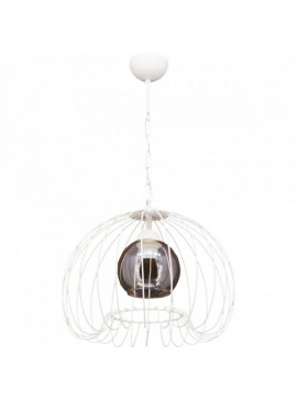 """Φωτιστικό """"DEMET"""" οροφής μονόφωτο μεταλλικό σε χρώμα λευκό Φ37 100-01031"""