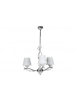 """Φωτιστικό οροφής """"SELENAY"""" 3φωτο μεταλλικό/γυάλινο σε χρώμα ασημί/λευκό Φ50x65 100-01248"""