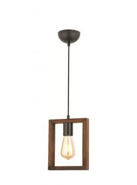 """Φωτιστικό μονόφωτο """"URBAN"""" σε χρώμα καφέ/μαύρο 100-01693"""