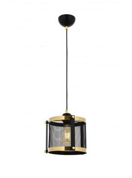 """Φωτιστικό οροφής """"BLACK"""" μονόφωτο σε χρώμα χρυσό/μαύρο Φ25 100-01701"""