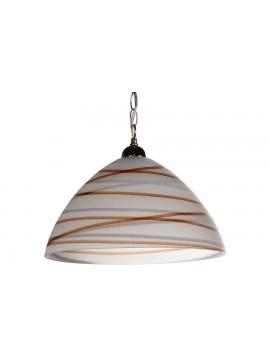 Φωτιστικό μονόφωτο από γυαλί σε χρώμα λευκό/καφέ Φ35 Ε27 100-02210