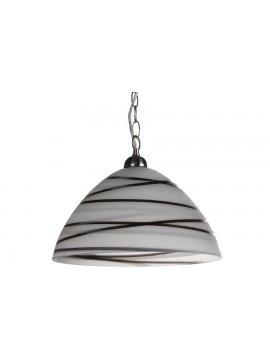 Φωτιστικό μονόφωτο σε χρώμα λευκό/μαύρο Φ35ΕΚ Ε27 100-02213