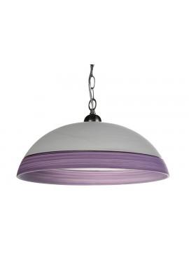 Φωτιστικό μονόφωτο από γυαλί σε χρώμα λευκό/μωβ Φ40 Ε27 100-02214
