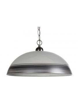 Μονόφωτο φωτιστικό σε χρώμα λευκό/γκρι Φ40 Ε27 100-02217