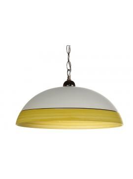 Μονόφωτο φωτιστικό από γυαλί σε χρώμα λευκό/κίτρινο Φ40 Ε27 100-02218
