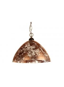 Μονόφωτο φωτιστικό οροφής από γυαλί σε χρώμα χαλκού Φ40 Ε27 100-02219