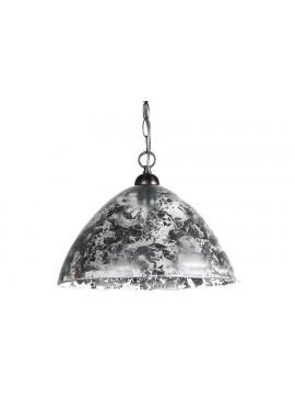 Φωτιστικό μονόφωτο από γυαλί σε χρώμα ασημί Φ40 Ε27 100-02220