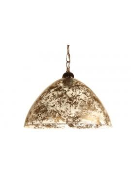 Φωτιστικό μονόφωτο από γυαλί σε χρώμα χρυσό Φ40 Ε27 100-02221