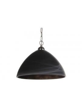 Φωτιστικό μονόφωτο από γυαλί σε χρώμα μαύρο ματ Φ40 Ε27 100-02222