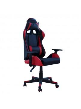 Καρέκλα γραφείου MASSA gaming klikareto απο pu χρώμα μαύρο-κόκκινο 70x71x123/133 100-02233
