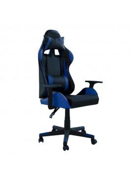 Καρέκλα γραφείου MASSA gaming klikareto απο pu χρώμα μαύρο-μπλε 70x71x123/133 100-02234