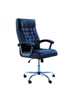 Καρέκλα γραφείου διευθυντή Legent klikareto με pu χρώμα μαύρο 64X76X115/123 100-02269