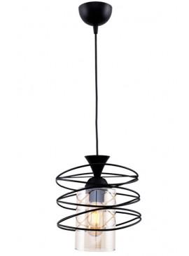 """Μονόφωτο φωτιστικό """"FIBER"""" από μέταλλο σε μαύρο χρώμα Φ20x87 100-02430"""