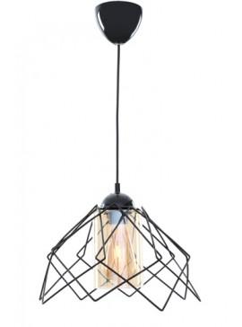 """Φωτιστικό μονόφωτο """"KONTES"""" μεταλλικό σε χρώμα μαύρο Φ26x68 Ε27 100-02437"""