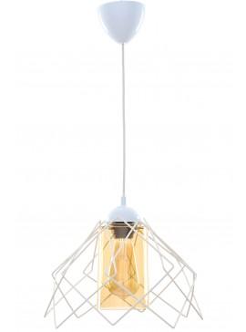 """Φωτιστικό μονόφωτο """"KONTES"""" μεταλλικό σε λευκό χρώμα Φ26x68 Ε27 100-02438"""