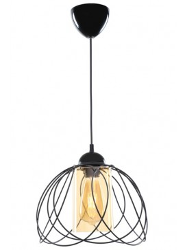 """Φωτιστικό μονόφωτο """"LEYLAK"""" μεταλλικό σε χρώμα μαύρο Φ26x68 Ε27 100-02439"""