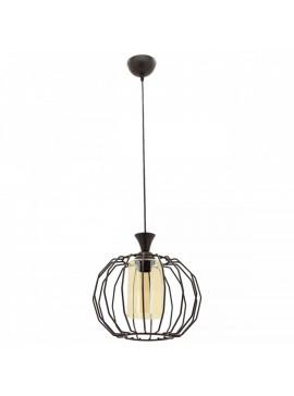 """Φωτιστικό μονόφωτο """"PETEK"""" μεταλλικό σε χρώμα μαύρο Φ30x80 100-02441"""