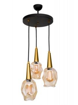 """Φωτιστικό οροφής """"OLIVIA"""" τρίφωτο σε χρώμα οξυντε E27 Φ30Χ87 100-02486"""