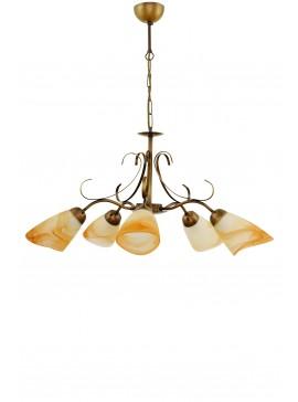 """Φωτιστικό οροφής """"SONIA"""" πεντάφωτο μεταλλικό σε χρώμα οξυντέ Ε27 100-02500"""