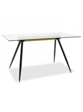 Τραπέζι Astrid pakoworld γυάλινο 10χιλ - πόδι μαύρο 140x80x75εκ 101-000019