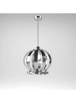 Φωτιστικό Κρεμαστό Genoa MED LIGHT Μεταλλικό Χρώμιο 1 Λάμπα Τύπου Ε27 LED 40*40*110MED-10301