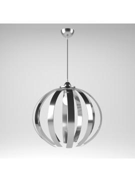 Φωτιστικό Κρεμαστό Corfu MED LIGHT Μεταλλικό Χρώμιο 1 Λάμπα Τύπου Ε27 LED 50*50*114 MED-10360
