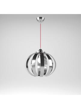 Φωτιστικό Κρεμαστό Corfu MED LIGHT Μεταλλικό Χρώμιο 1 Λάμπα Τύπου Ε27 LED 37*37*105 MED-10361