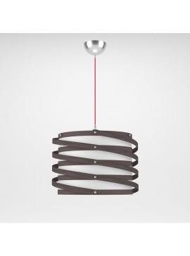 Φωτιστικό Κρεμαστό Rome MED LIGHT Καφέ Σκούρο 1 Λάμπα Τύπου Ε27 LED 37*37*105 MED-10393