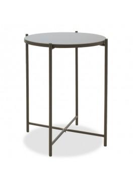 Βοηθητικό τραπέζι σαλονιού Lima pakoworld ανθρακί 43.5x43.5x53εκ 104-000011