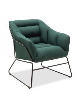 Πολυθρόνα Ethan pakoworld με ύφασμα χρώμα κυπαρισσί 66x70x75εκ 111-000002