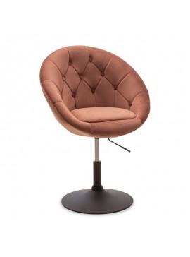 Πολυθρόνα Ivy pakoworld πτυσσόμενη με βελούδο χρώμα σάπιο μήλο 68x56x82-94εκ 111-000004