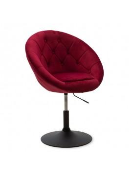 Πολυθρόνα Ivy pakoworld πτυσσόμενη με βελούδο χρώμα μπορντώ 68x56x82-94εκ 111-000005