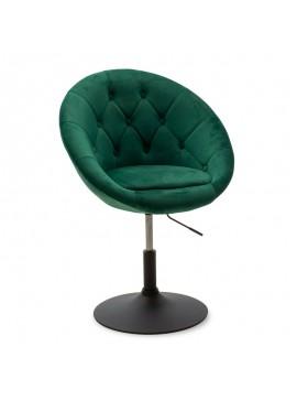 Πολυθρόνα Ivy pakoworld πτυσσόμενη με βελούδο χρώμα κυπαρισσί 68x56x82-94εκ 111-000006