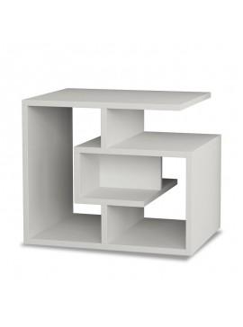 Βοηθητικό τραπέζι σαλονιού Labirent pakoworld χρώμα λευκό 54x40x45εκ 119-000033