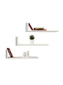 Ραφιέρα τοίχου L-Model pakoworld χρώμα λευκό 50x20x14εκ 119-000092