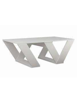 Τραπέζι σαλονιού PIPRA pakoworld σε χρώμα λευκό 110x60x40 119-000648