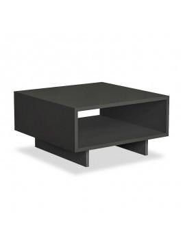 Βοηθητικό τραπέζι σαλονιού Hola pakoworld χρώμα ανθρακί 60x60x32εκ 119-000727
