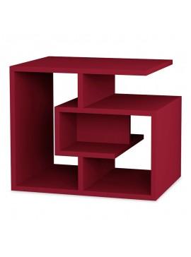 Βοηθητικό τραπέζι Labirent pakoworld χρώμα σκούρο κόκκινο 54x40x45εκ 119-000749