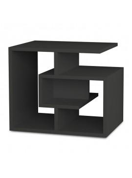 Βοηθητικό τραπέζι Labirent pakoworld χρώμα ανθρακί 54x40x45εκ 119-000750