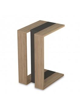 Βοηθητικό τραπέζι Muju pakoworld σε χρώμα φυσικό – ανθρακί 40x30x57εκ 119-000768