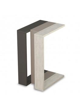 Βοηθητικό τραπέζι Muju pakoworld σε 3 χρώματα ανθρακί-μόκα-antique λευκό 40x30x57εκ 119-000769