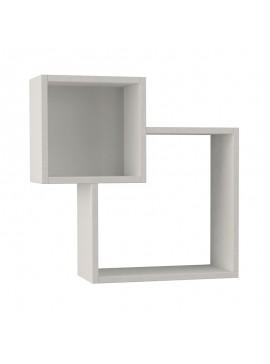 Ραφιέρα τοίχου Diamond pakoworld λευκό χρώμα 57,5x20x57,5εκ 119-000812