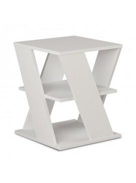 Βοηθητικό τραπέζι Cyclo pakoworld χρώμα λευκό 55x55x55εκ 119-000846