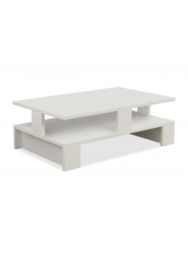 Τραπέζι σαλονιού Mansu pakoworld χρώμα λευκό 80x50x27,5εκ 119-000872
