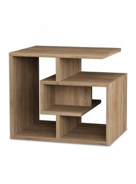 Βοηθητικό τραπέζι σαλονιού Labirent pakoworld χρώμα φυσικό 54x40x45εκ 119-000878