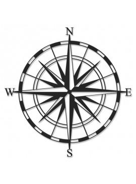 Μεταλλικό διακοσμητικό τοίχου Compass pakoworld 45x0,3x45εκ 119-000918