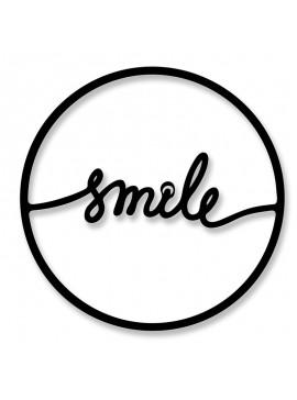 Μεταλλικό διακοσμητικό τοίχου Smile pakoworld 45x0,3x45εκ 119-000922