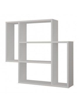 Ραφιέρα τοίχου Mito pakoworld χρώμα λευκό 87x20x85,5εκ 119-000937