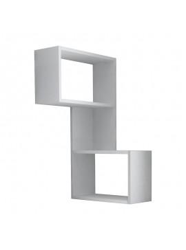 Ραφιέρα τοίχου γωνιακή Part pakoworld χρώμα λευκό 47x20x85,5εκ 119-000943