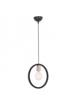 Κρεμαστό μεταλλικό φωτιστικό οροφής Urgup 1 pakoworld Ε27 χρώμα μαύρο 20x10x60εκ 119-001025